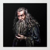 gandalf Canvas Prints featuring Gandalf  by DavinciArt