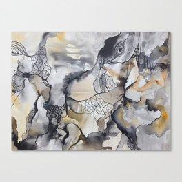 Cliffs of Rust + Ash Canvas Print