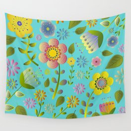 Petty Floral Pattern 3 Wall Tapestry