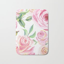 Roses Water Collage Bath Mat