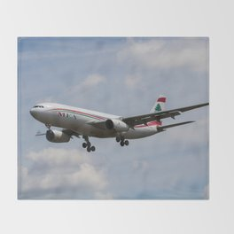 Middle Eastern Airlines MEA Airbus A330 Throw Blanket
