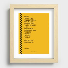 Taxi driver Recessed Framed Print