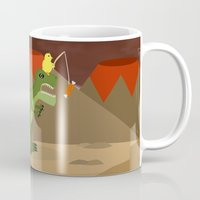 dinosaur Mugs featuring dinosaur by Nir P