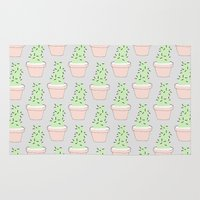cacti Area & Throw Rugs featuring Cacti  by Sarah Kennedy