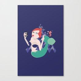 The Mermaid Selfie Canvas Print