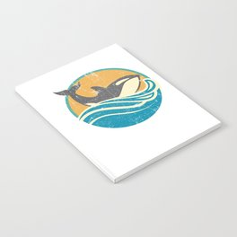 Retro Distressed Killer Whale Design for Orca Lovers Notebook