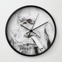robert downey jr Wall Clocks featuring Robert Downey Jr. by KlarEm