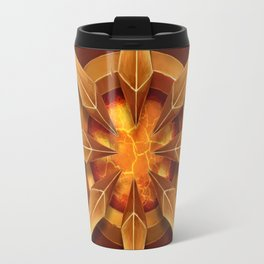 The gold star of the deep torch Travel Mug