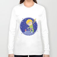 the little prince Long Sleeve T-shirts featuring Little Prince by Bruna Sousa