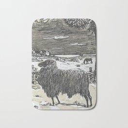 Sheep in a landscape , Richard Roland Holst, 1878 Bath Mat