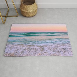 Ocean and Sunset Needed Rug