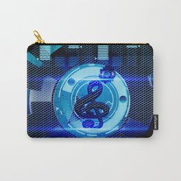 Clef on blue technical design Carry-All Pouch