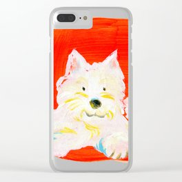2 Dogs Clear iPhone Case