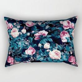 Roses Blue Rectangular Pillow