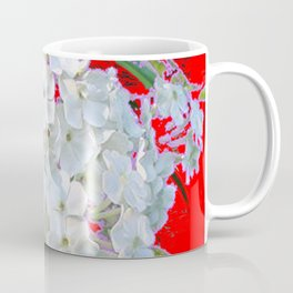 DELICATE RED & WHITE LACE FLORAL Coffee Mug