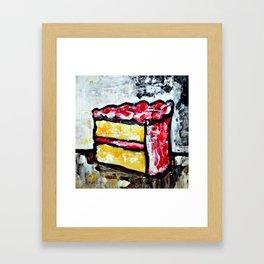 Sweet Treats Still Life: Cake Framed Art Print