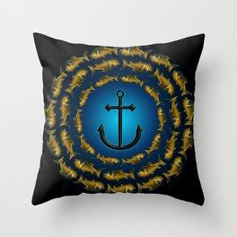 Fish & Anchor Throw Pillow