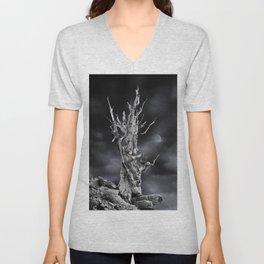The ghost of Pinus longaeva 2. Unisex V-Neck