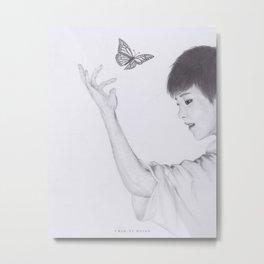 Don't Go: Xiumin Metal Print