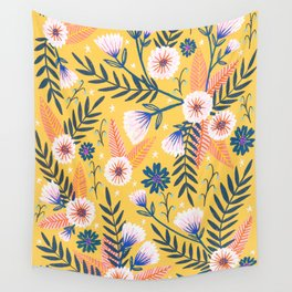 Sunshine florals Wall Tapestry
