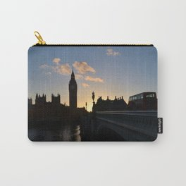 London Sunset Silhouette Carry-All Pouch