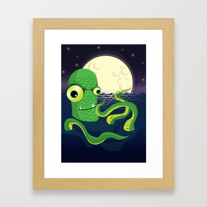 A Late Night Dip Framed Art Print