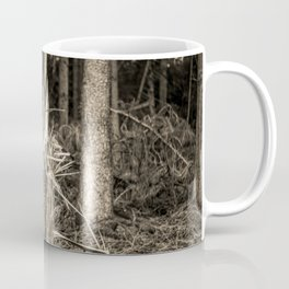 Fallen And Broken Trees After Storm Victoria February 2020 Möhne Forest 7 sepia Coffee Mug