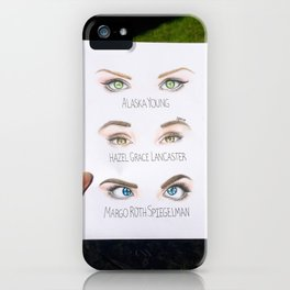 John Green Book Character Eyes iPhone Case