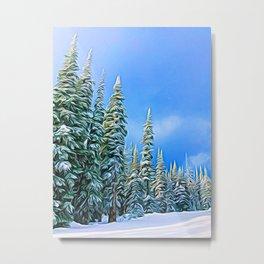 Sundance Chair Trees Metal Print