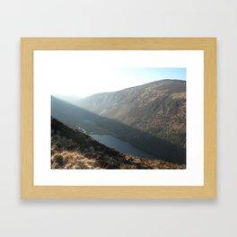 Glendalough Mountains Framed Art Print