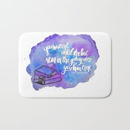 "illuminae ""you have me"" watercolor bubble galaxy Bath Mat"
