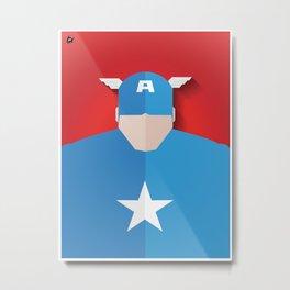 Capitão America Metal Print