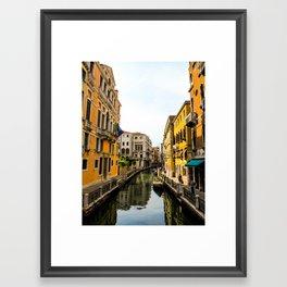 streets of venice Framed Art Print