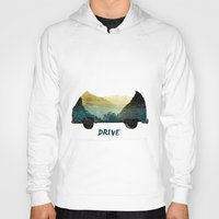 drive Hoodies featuring drive by yuvalaltman