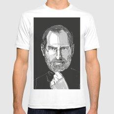 Steve Jobs Mens Fitted Tee White MEDIUM
