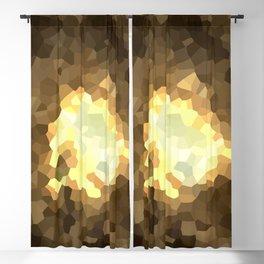 Gold Light Universe Love Blackout Curtain