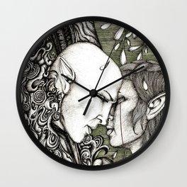 Dread Wolf's lover Wall Clock