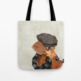 Elegant Mr. Dachshund Tote Bag
