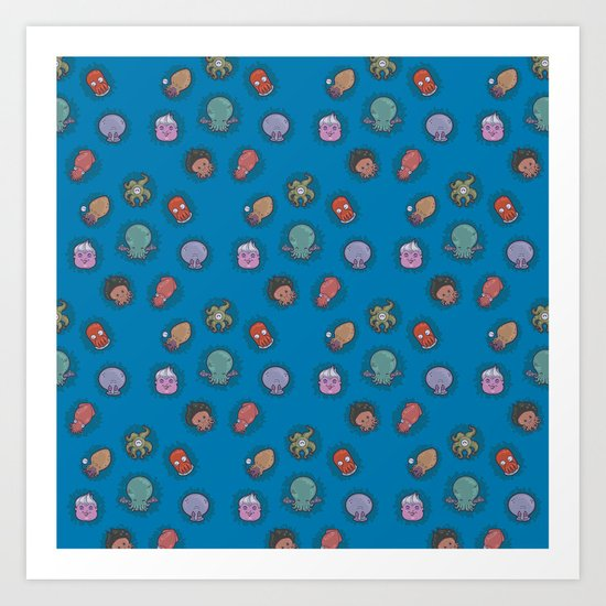 A Tangle of Tentacles Art Print