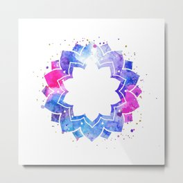 Star flower mandala Metal Print