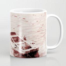 Monochrome Beach Days Boat Coffee Mug