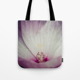 Pink and White Flower Tote Bag