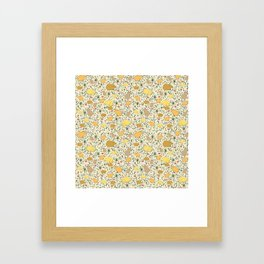 Capybara Pattern Framed Art Print