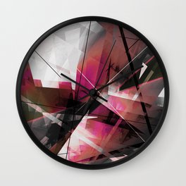 Echoes of Expansion - Geometric Abstract Art Wall Clock