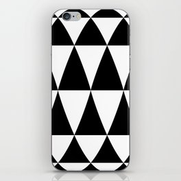 Triangle waves and swirls iPhone Skin