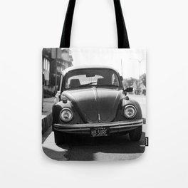 Hermosa Beach Surf Bug, Black and White Photography Print, Beach Art, South Bay Los Angeles Art Tote Bag