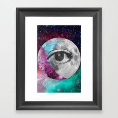 I'll be looking at the moon... and I'll be seeing you Framed Art Print