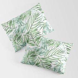 Watercolor palm leaves pattern Pillow Sham
