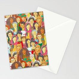 Pattern #75 - The gaze of sisterhood Stationery Cards