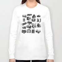 cameras Long Sleeve T-shirts featuring Cameras by ELCORINTIO